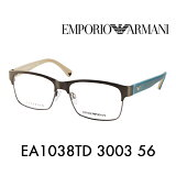 【OUTLET★SALE】アウトレット セール エンポリオアルマーニ 伊達 メガネ 眼鏡 サングラス EA1038TD 3003 56 EMPORIO ARMANI UVカット