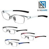 【正規販売店】G-SQUAREアイウェア度付ナイロールタイプ超薄型非球面レンズ(屈折率1.67)ネッツペックレンズ付きフレームゲーミンググラス眼鏡メガネ