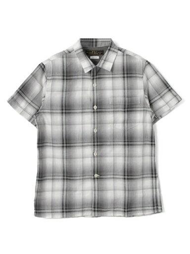 Indigo Ombre Check Box Shirt UF65-13R004: Black