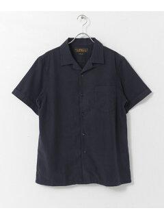 JP Silk Twiil Box Shirt UF85-13B011: Navy
