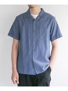 JP Silk Twiil Box Shirt UF85-13B011: Blue
