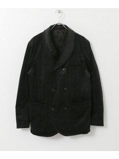 Freemans Sporting Club JP Corduroy Double Breasted Jacket UF86-17B006: Black
