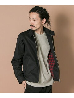 Urban Research Cotton Polyester Harrington Jacket UR66-17M005: Black