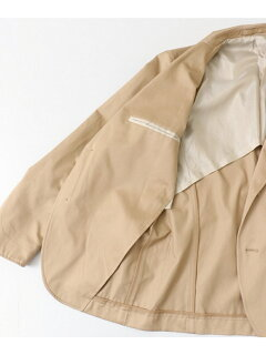 High Density Cotton Gabardine Shacket UF84-17B007: Beige