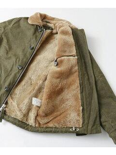 Freemans Sporting Club MIL-SPEC N-1 Shearling Deck Jacket 261011-UF76: Olive