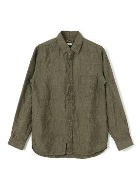 Freemans Sporting Club JP Linen Chambray Cutter Shirt UF74-13B006: Khaki