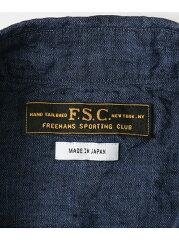 Freemans Sporting Club JP Linen Chambray Cutter Shirt UF74-13B006: Navy