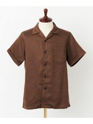 Lyocell Chino Box Shirt UF65-13R003: Brown