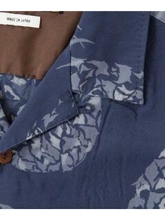 Indigo Rayon Bassen Box Shirt UF65-13R008: Indigo