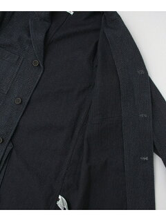 JP Sashiko Shop Coat UF64-17R005: Indigo