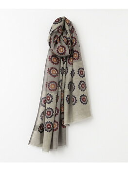 Urban Research Tailor Wool Fine Pattern Scarf UT76-1VK049: Grey