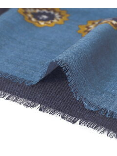 Urban Research Tailor Wool Fine Pattern Scarf UT76-1VK049: Navy