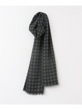 Urban Research Tailor Wool Fine Pattern Scarf UT76-1VK050: Navy