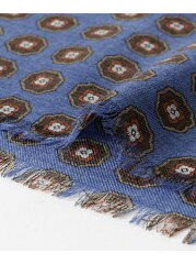 Urban Research Tailor Wool Fine Pattern Scarf UT76-1VK050: Blue
