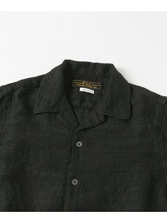 JP Dobby Stripe Box Shirt UF74-13B005: Black