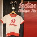 ajito Indian Motorcycle インディアン モーターサイクル ヴィンテージ Tシャツ バイカー ファッション ビンテージ 半袖 チャンピオン ボディ CHAMPION アメリカン 古着 レア SMALL (34-36) Sサイズ メンズ レディース HAPPYEND