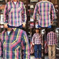 BUDDYオリジナル厚手ヘビーネルシャツバディ原宿チェックアメカジアメリカンレッドブラウンネイビーブルーカジュアルメンズファッションネルシャツメイドインジャパンmadeinjapan60's70's