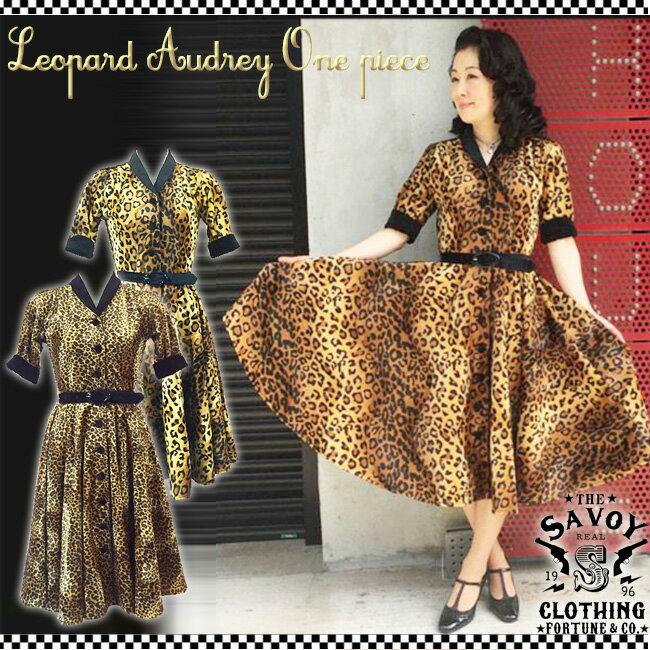 レディースファッション, ワンピース SAVOY CLOTHING Leopard Audrey One piece