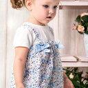 女の子 ベビー ロンパース カバーオール 半袖 リバティ 花柄 リボン ドッキング 出産祝い 春 夏 60 70 80 90 cm dbj16493 dave&bella デイブ ベラ 上品