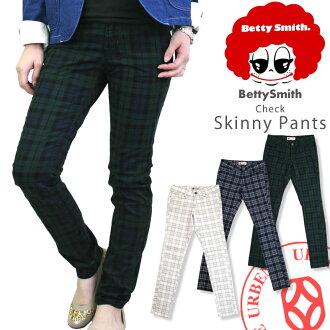 BETTY SMITH ( bettismith ) チェックタイト straight pants ( BAW2053C/BAW2053G ) Tartan check / Black Watch / タイトストレート / レギンスパンツ / ladies / women / classic / Rakuten /BETTYSMITH