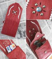 【メンズ&レディース】IndianMotocycleCompany(インディアンモトサイクルカンパニー)ヴィンテージウォッシュ加工レザーターコイズモチーフコインケース(本革財布)IMW064