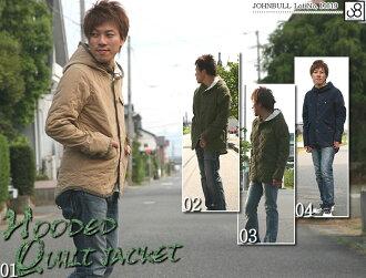 JOHNBULL ( jumble ) (coats / outerwear 16119) C/N ox quilted hooded military jacket men's / フライトジャケット / olive / black / Black / khaki/hood / Rakuten