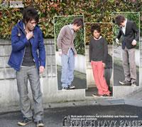 JOHNBULL ( jumble ) cotton linen セーラークロスフレンチネイビー straight pants ( 11319 ) (men) / / Rakuten