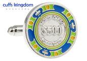 $500[グリーン]カフスボタン