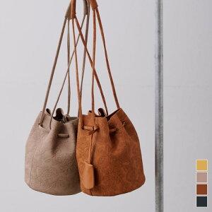 ペイズリージャガード巾着バッグ/バッグ/レディース/鞄/ペイズリー/ジャガード/巾着/小さめ/ハンドバッグ/柄/バケツ型