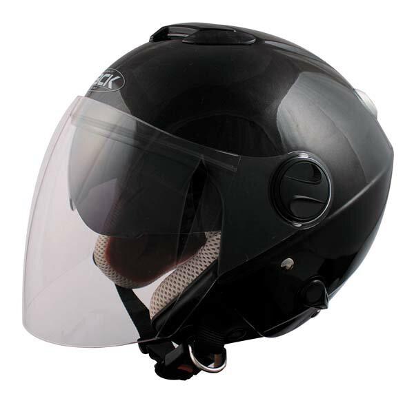 SPEEDPITZJ-2ZACKダブルシールド機能搭載ジェットヘルメットブラック