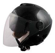 シールド ジェット ヘルメット ブラック