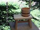 木曽ひのき風呂椅子・手桶2点セット 【木曽の漆器よし彦】 1