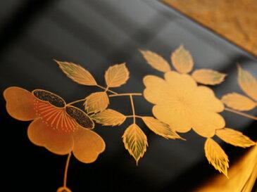 文庫山茶花(さざんか) 【木曽の漆器よし彦】