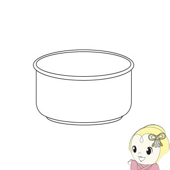 2343800307 シャープ ジャー炊飯器 3合用 内ナベ