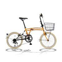 「メーカー直送」M6OR_ドッペルギャンガー_20インチ折りたたみ自転車_m6_オレンジ