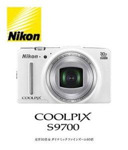 送料無料!(北海道・沖縄・離島除く)ニコン デジタルカメラ COOLPIX S9700 [エレガントホワイト...