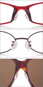 鼻盛りまめパッド2個入り《2セット》[メガネをしっかり支えて鼻あての跡をつきにくくする鼻あて・眼鏡の鼻幅部分の調整・シール不要でサングラスなどに直接つけられる鼻パッド]