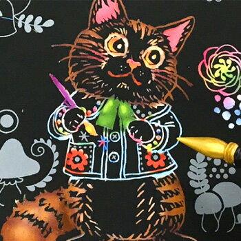 ◎心がやすらぐスクラッチアート[塗り絵のように楽しめるスクラッチアート ぬりえのような削るアート 大人 子ども 色鮮やかで美しいスクラッチペン付 花柄 ぬり絵のようなアート]【ポイント1倍】