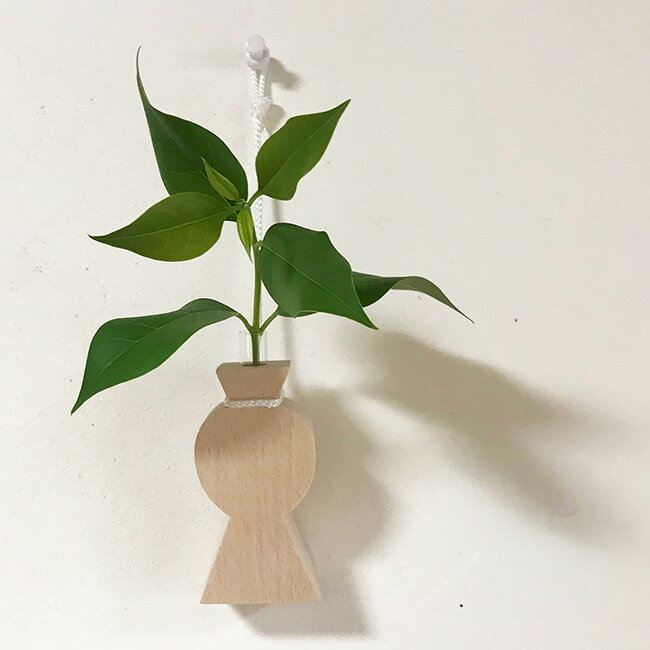 ◎木製 一輪挿し VASE[花瓶 ベース 榊立て 木製 神棚 飾り 榊立 榊 さかき 神具 小 小さい 木 モダン おしゃれ かわいい インテリア 単品] 即納