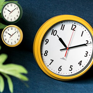 9e0b81b3ed ノア精密 電波時計モーメンタムコパン[直径28cm/グリーン/イエロー/緑