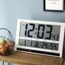 ◎Landex ランデックス バカデカ電波時計 YW9088WH[デジタル電波時計 タイムゲート 置き時計 掛け時計]【即納】