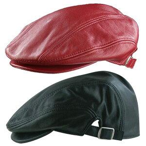 ◎シープスキン ドライビング ハンチング[ハンチング帽子 ハンチング帽 メンズ ハンチング 帽子 レザー 革 シープスキン 男性 紳士] 即納
