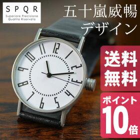 SPQRスポールekiwatch腕時計designTakenobuIgarashi[日本製の革(レザーバンド)の腕時計シンプルで男女兼用で使えるデザインカラーはブラック・ブラウン・ベージュ]