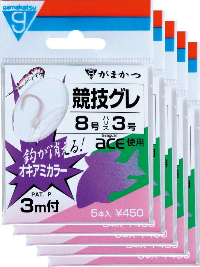 がまかつ糸付競技グレ3m5号-1.5オキアミカラー5枚まとめ買い特価11241(gamakatsu・がまかつ・グレ)