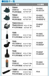 【送料無料】本多電子HONDEX魚群探知機用振動子(レジャー用)TD04C(3P)(コード6m)/200kHzレジャー用振動子/オプション品/釣り/ホンデックス/釣果/魚探/ボート/船/漁船/フィッシング/PS-500C/PS-501CN/PS-600GPII/送料無料