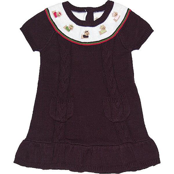 ジンボリー GYMBOREE 3歳用 女の子茶色ワンちゃん刺繍半袖ニットワンピースドレス 出産祝い 【ラ・クーポンで送料無料】【楽ギフ_包装選択】