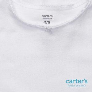 カーターズ(Carter's)【2013年最新作】【2-7歳用】女の子用真っ白なエンジェルリボン付き半袖肌着2枚セット,アンダーウェア,子供用下着,肌着セール,Tシャツ,シミーズ,しみーず,無地【レビューを書いて送料無料】【楽ギフ_包装選択】