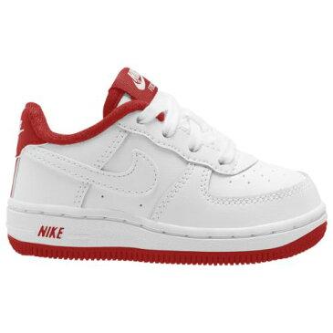 【送料無料☆割引クーポン対象】【海外限定】 nike ナイキ 【ベビー・キッズ(8.0-16.0cm)】 Nike Air Force 1 Low (White/Team Red) スニーカー 子供靴 出産祝い エアフォースワン