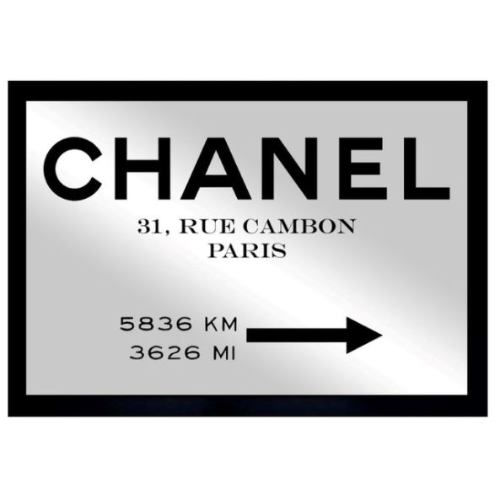 CHANEL 鏡 5 Oliver Gal Couture Road Sign Minima...