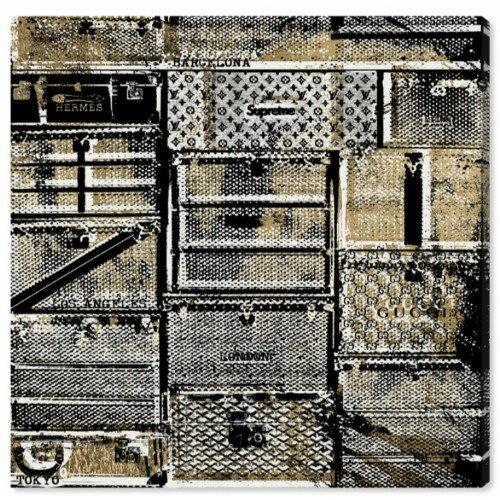 絵画, その他 25310OFF Oliver Gal 91x91cm SUITCASE IN TRANSIT Supreme GUCCI